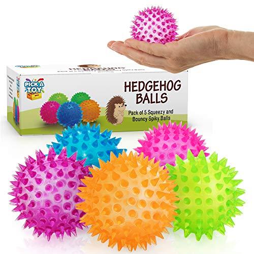 Squishy Antistress Fidget ball 5 - Stück Set -Squishy & Hüpfende Antistress Spielzeugbälle für Männer, Frauen, Erwachsene, Jugendliche & Kinder - Angebot für Menschen mit OCD, ADHS, ADD & Autismus